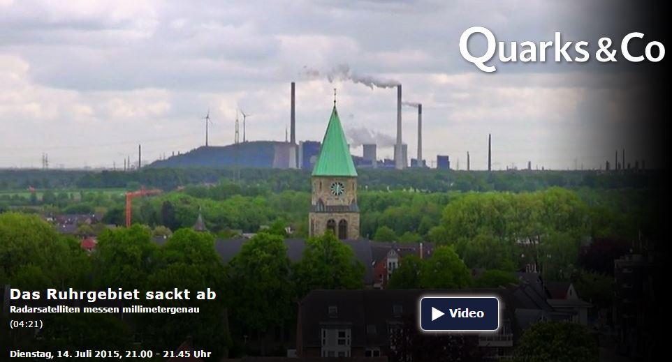 Das Ruhrgebiet sackt ab.